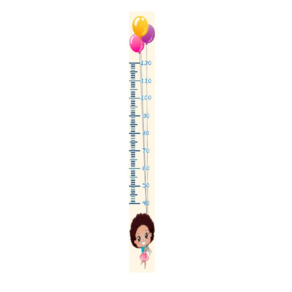 Régua Adesiva Autocolante de Crescimento Infantil Menina R08 TacDecor