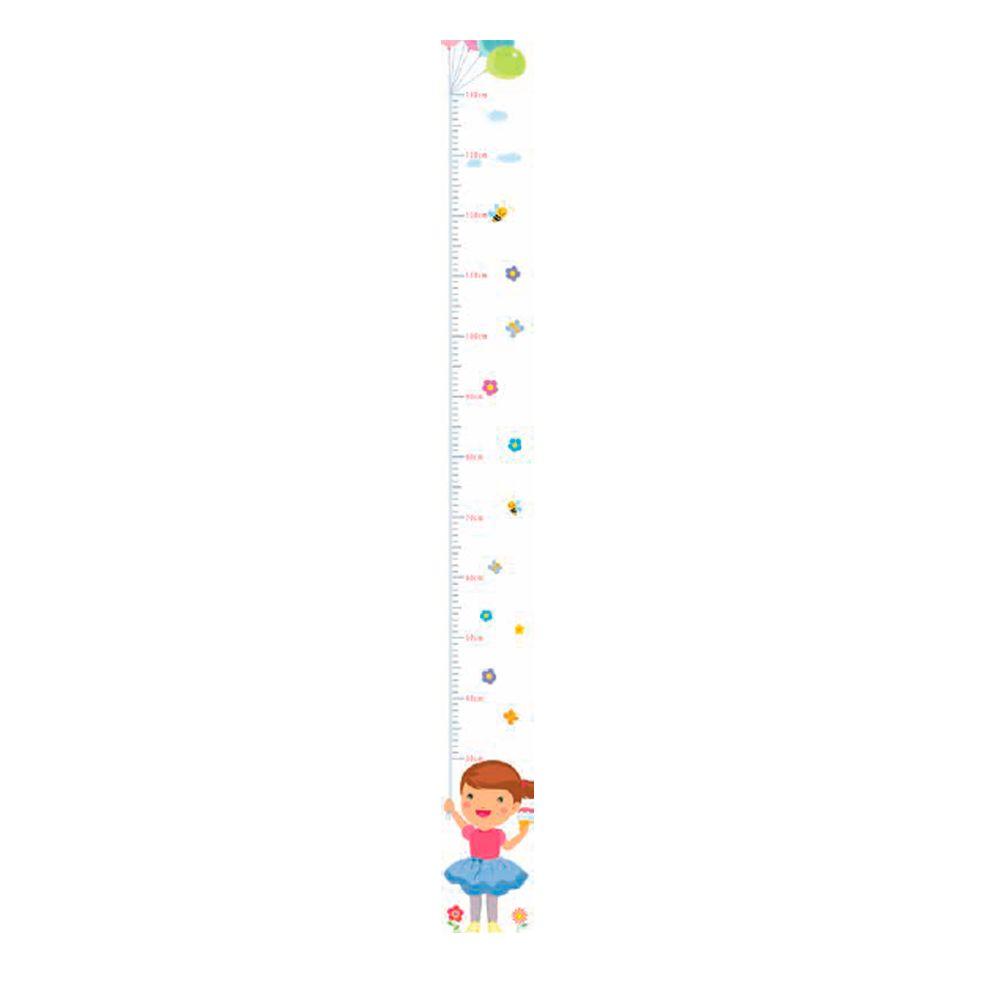 Régua Adesiva Autocolante de Crescimento Infantil Menina R02 TacDecor