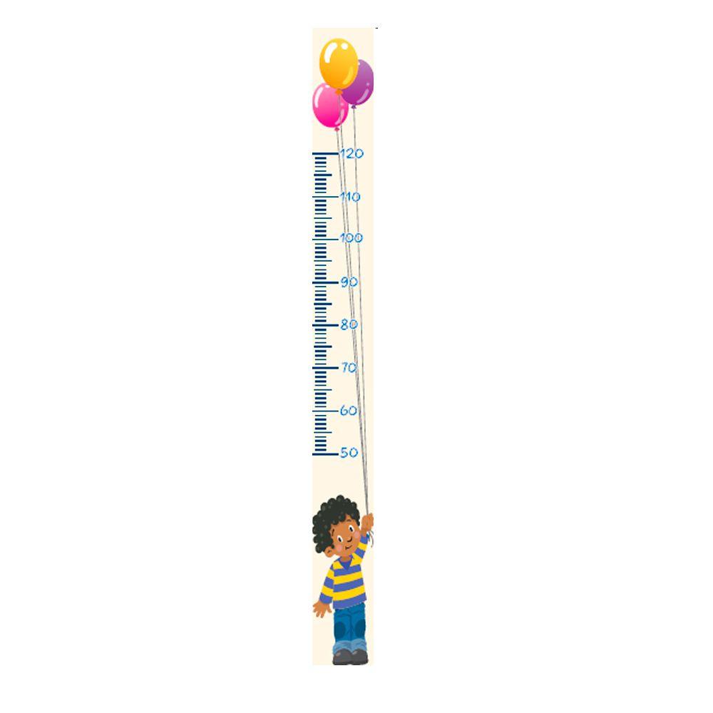 Régua Adesiva Autocolante de Crescimento Infantil Menino R07 TacDecor