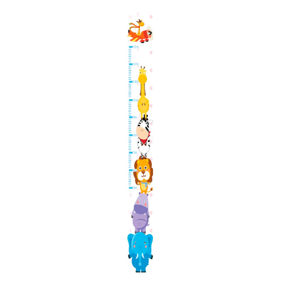 Régua Adesiva Autocolante de Crescimento Infantil Safari TacDecor