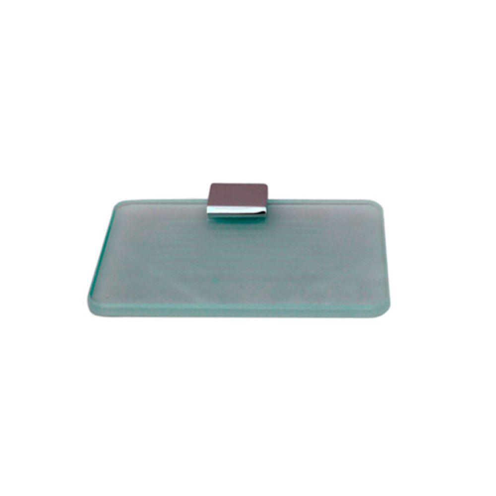 Saboneteira de Latão com Vidro Quadrada Slim TM 176803