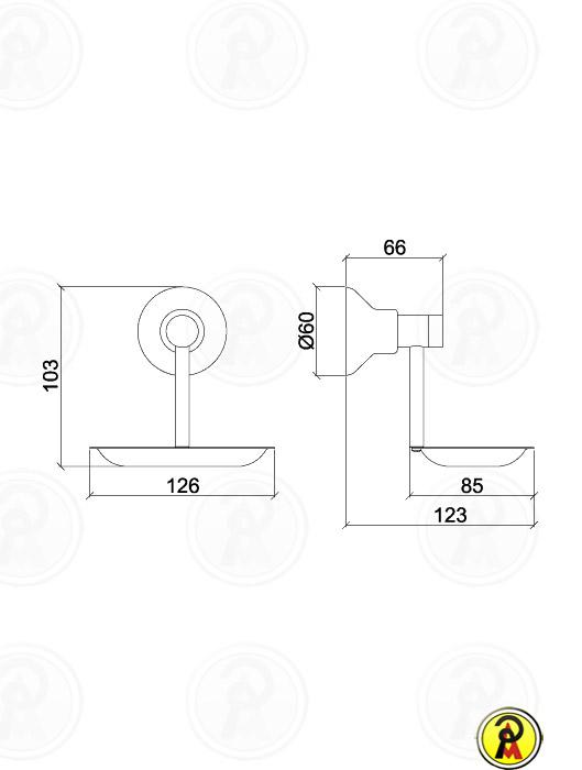 (Sob Consulta) Saboneteira de Metal de Parede Lorenzetti Linus 2008 C40 - 50