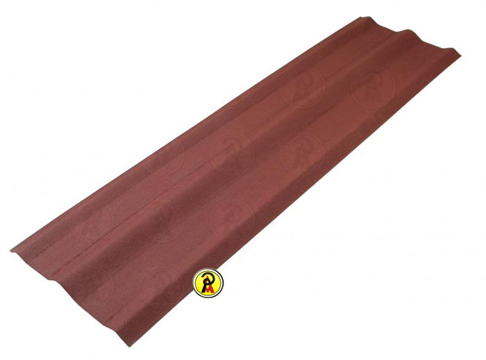 Telha Cumeeira Ecológica Onduline Vermelha Mesclada 0,48X2,00m