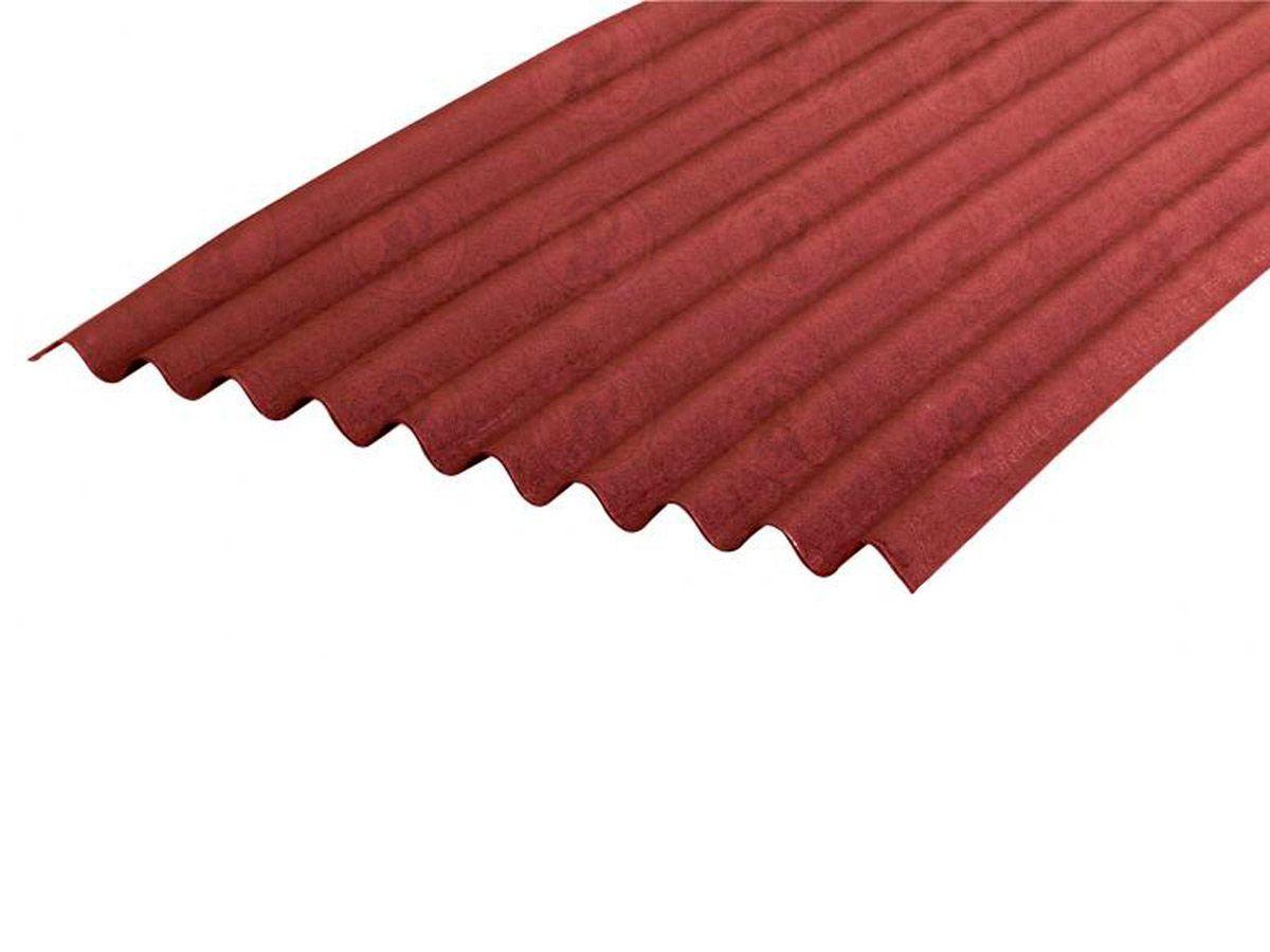 Telha Ecológica Onduline Clássica Tradicional 0,95X2,00m Vermelha 1Face