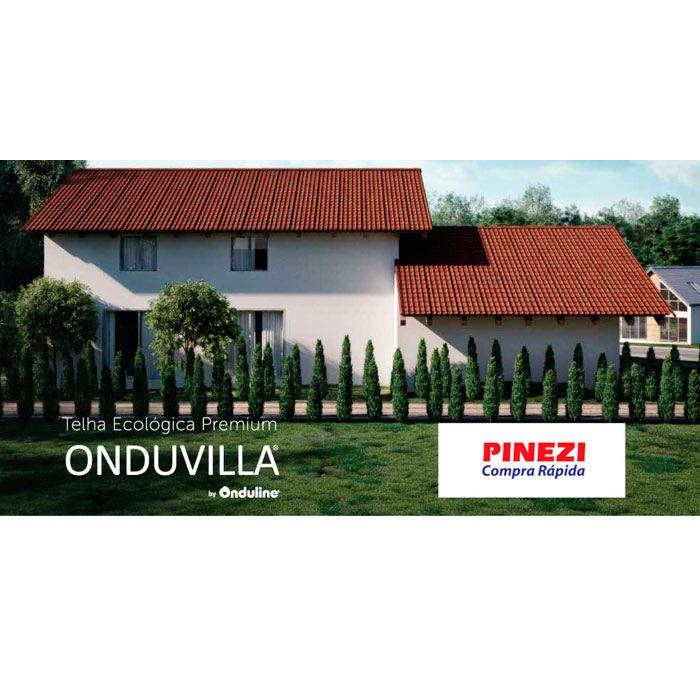 Telha Ecológica Onduline Onduvilla 1,06X0,40ml Black