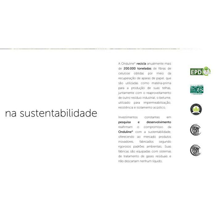 Telha Ecológica Onduline Onduvilla 1,06X0,40m Torino Brown