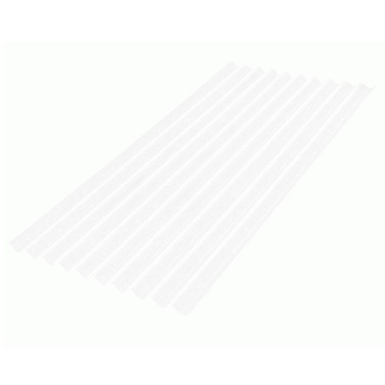Telha Onduline Policarbonato Onduclair 0,97X2,00m Cristal Clássica