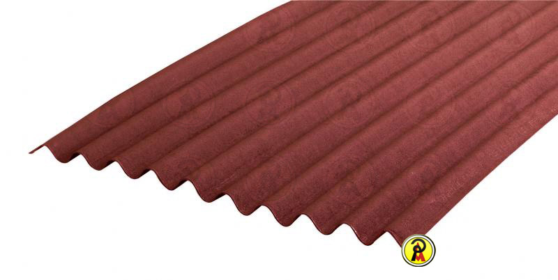 Telha Ecológica Onduline Clássica 0,95X2,00m Vermelha