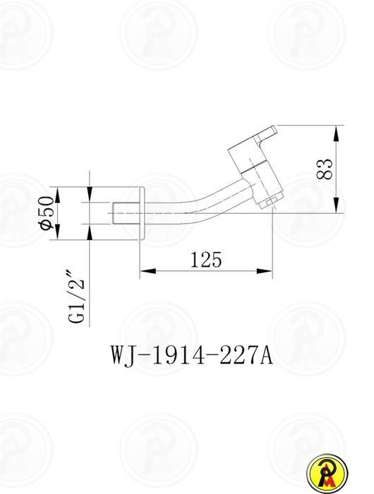 Torneira Curta para Lavatório de Parede Jiwi WJ-1914-227A