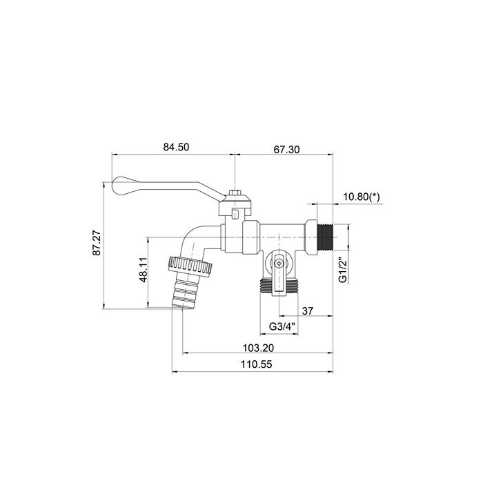 Torneira de Esfera para Máquina de Lavar Lorenzetti Linha 12 1131 C12