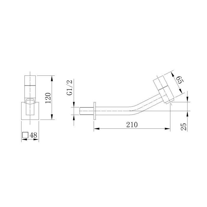 Torneira de Parede para Lavatório Jiwi WJ-1015-65A