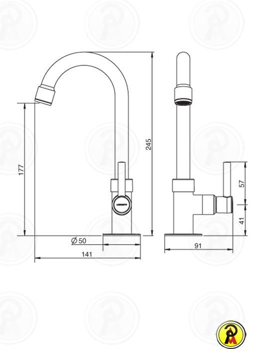 Torneira para Lavatório de Mesa Bica Alta Lorenzetti Fit Slim 1195 C31