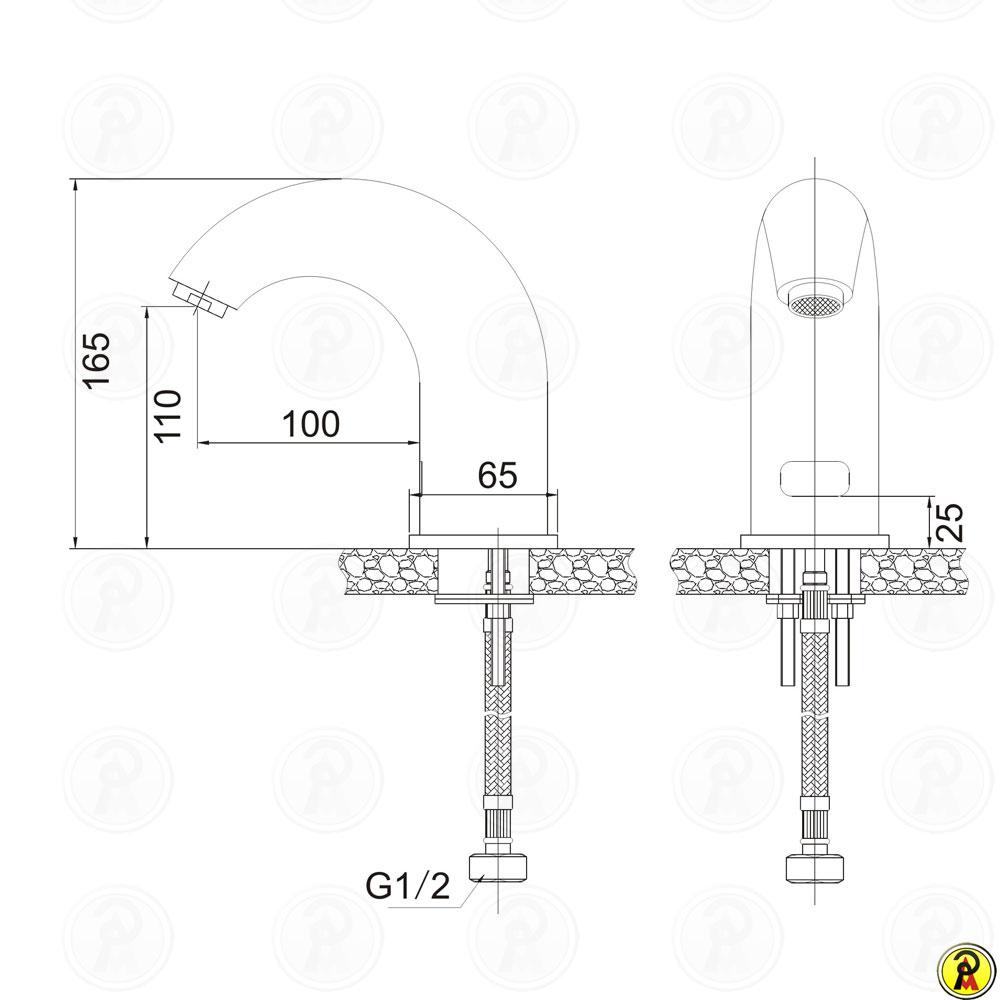 Torneira para Lavatório de Mesa com Sensor Jiwi WJ-9302