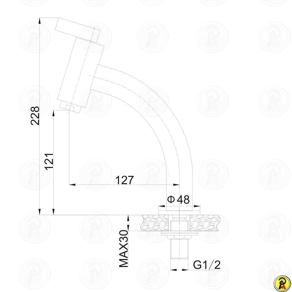 Torneira para Lavatório de Mesa Jiwi WJ-1313-190A