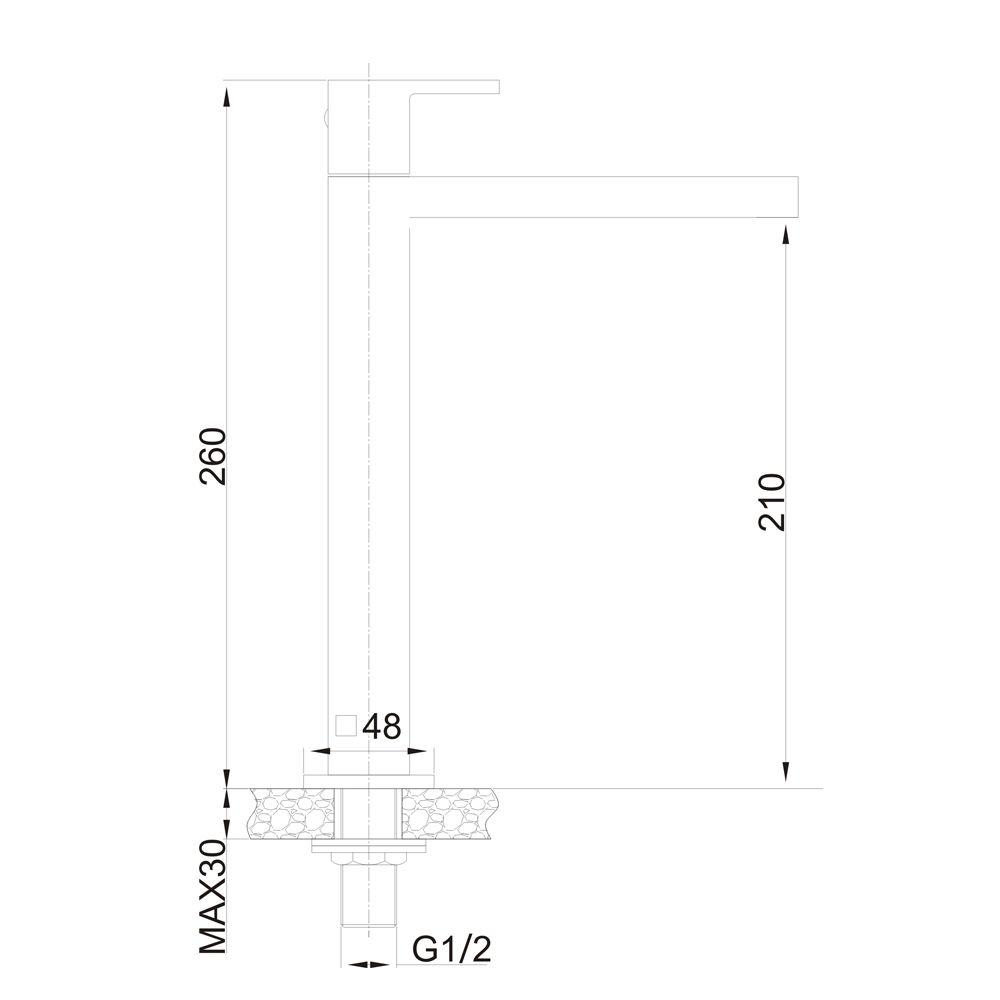 Torneira para Lavatório de Mesa Jiwi WJ-2618-265A