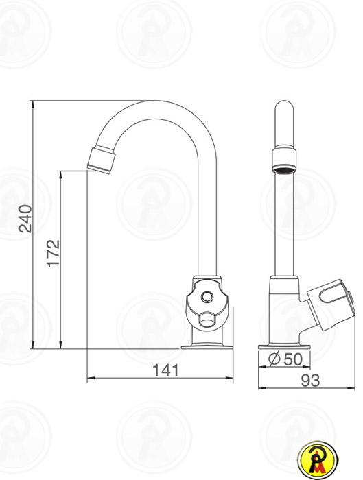Torneira para Lavatório de Mesa Lorenzetti LorenFresh Light 1195 C28  - Pinezi Compra Rápida