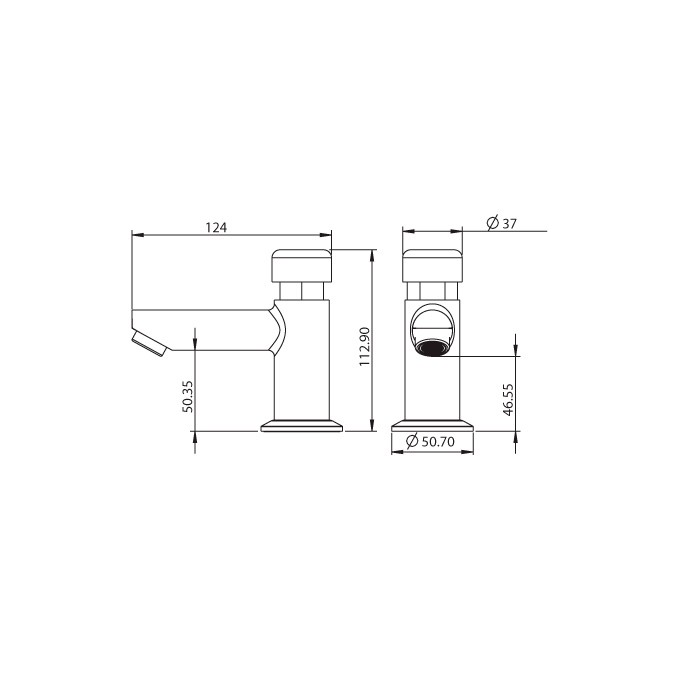 Torneira para Lavatório de Mesa Lorenzetti Smart System 1174 C79