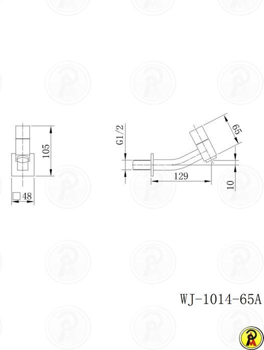 Torneira para Lavatório de Parede Curta Jiwi WJ-1014-65A