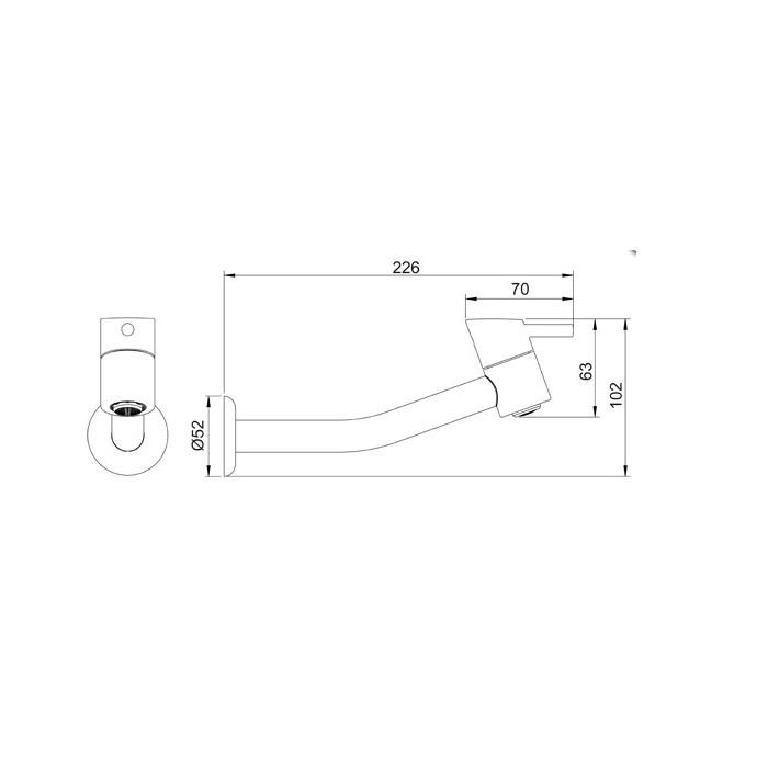 Torneira para Lavatório de Parede Swan 1161 C42  - Pinezi Compra Rápida