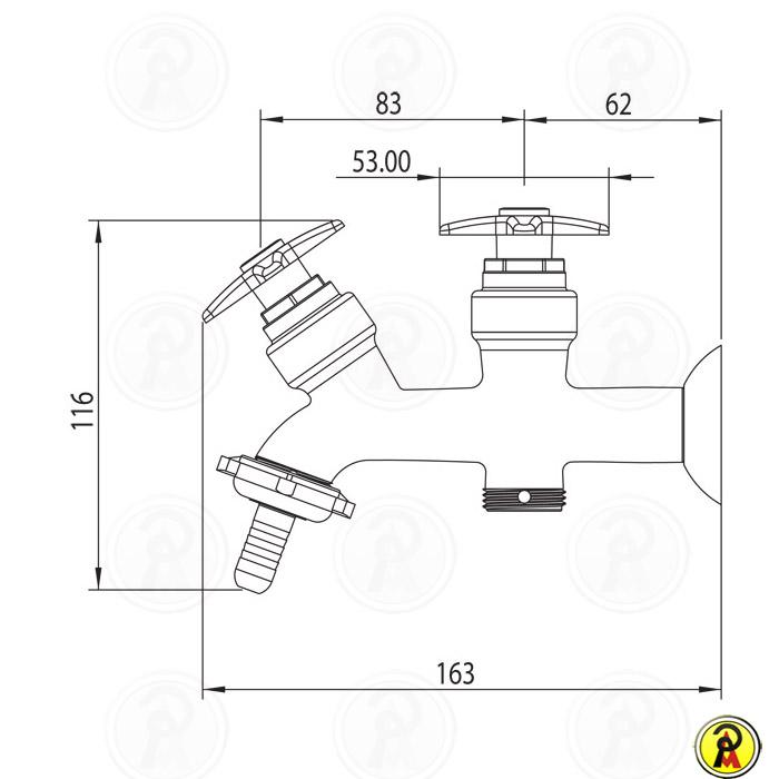 (Sob Consulta) Torneira para Máquina de Lavar Roupa Lorenzetti LorenLume 1131 C23