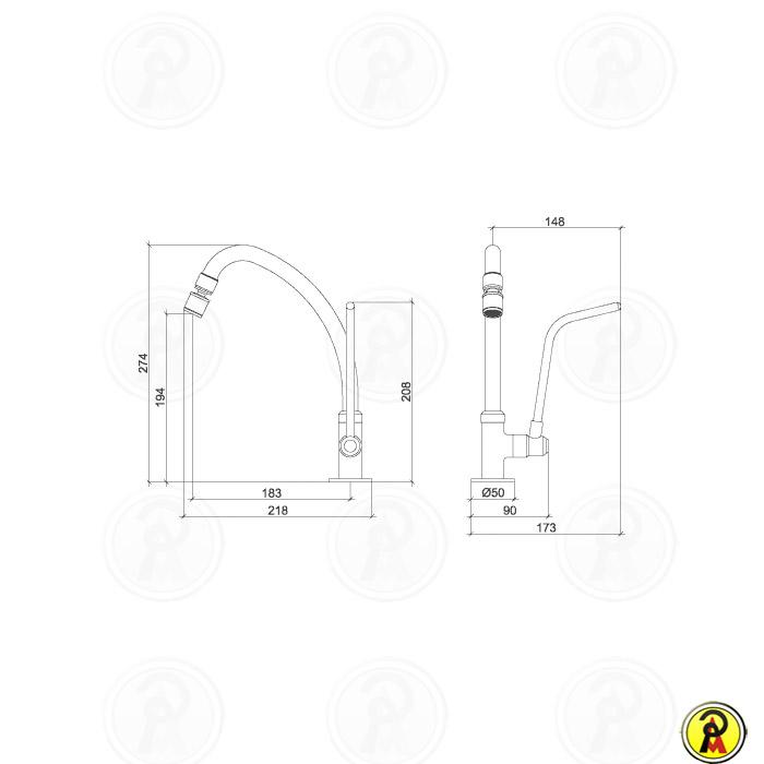 Torneira para Uso Especial de Mesa Bica Móvel Lorenzetti Fit Special 1167 C53  - Pinezi Compra Rápida