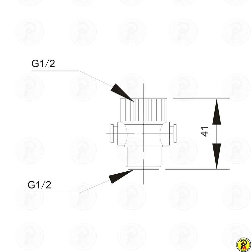 Válvula acionadora para Ducha manual Jiwi WJ-0501
