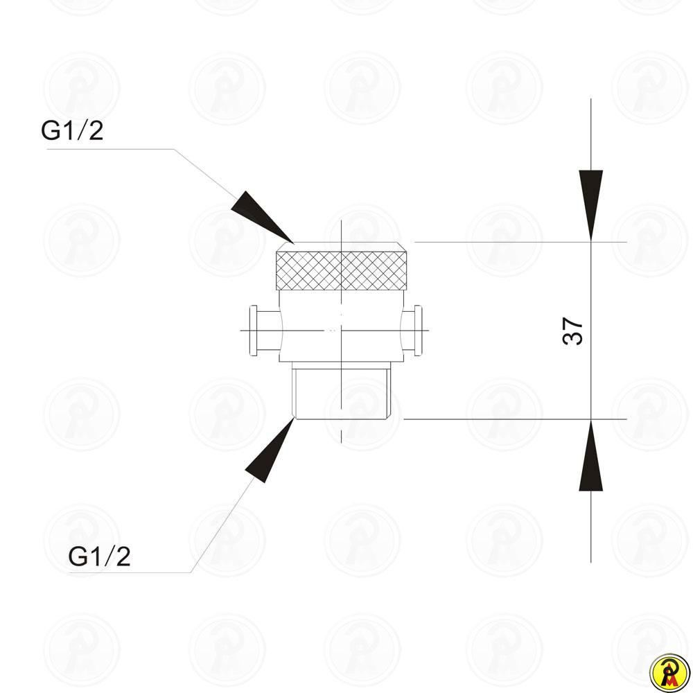 Válvula acionadora para Ducha manual Jiwi WJ-0502