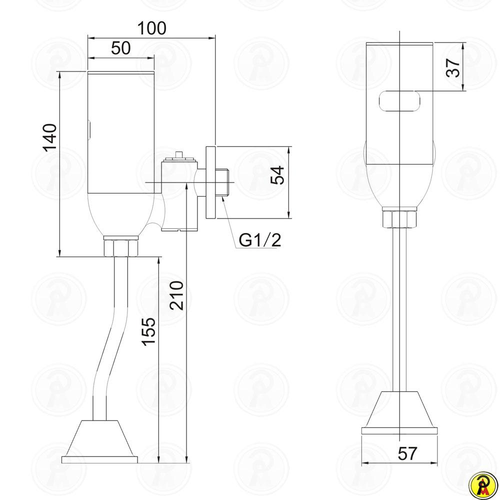 Válvula de Mictório com Sensor Jiwi WJ-9101