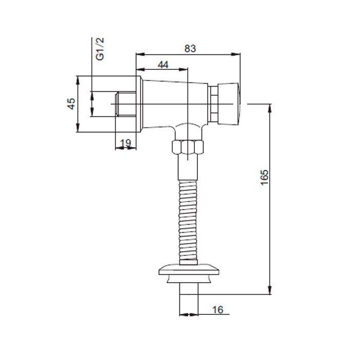 Válvula de Mictório Fechamento Automático Jiwi WJ-8201
