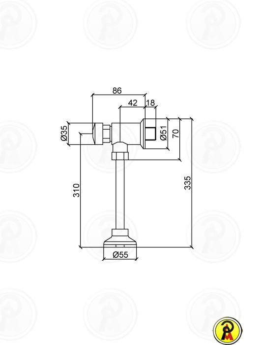 Válvula para Mictório Lorenzetti Smart System 1626 C79
