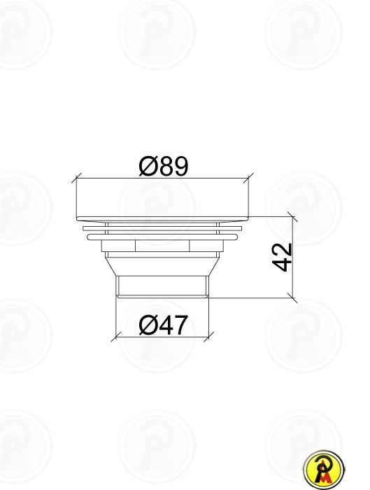 (Sob Consulta) Válvula para Pia Americana de Cozinha 3.1/2 x 1.1/2 Lorenzetti 1604 C20