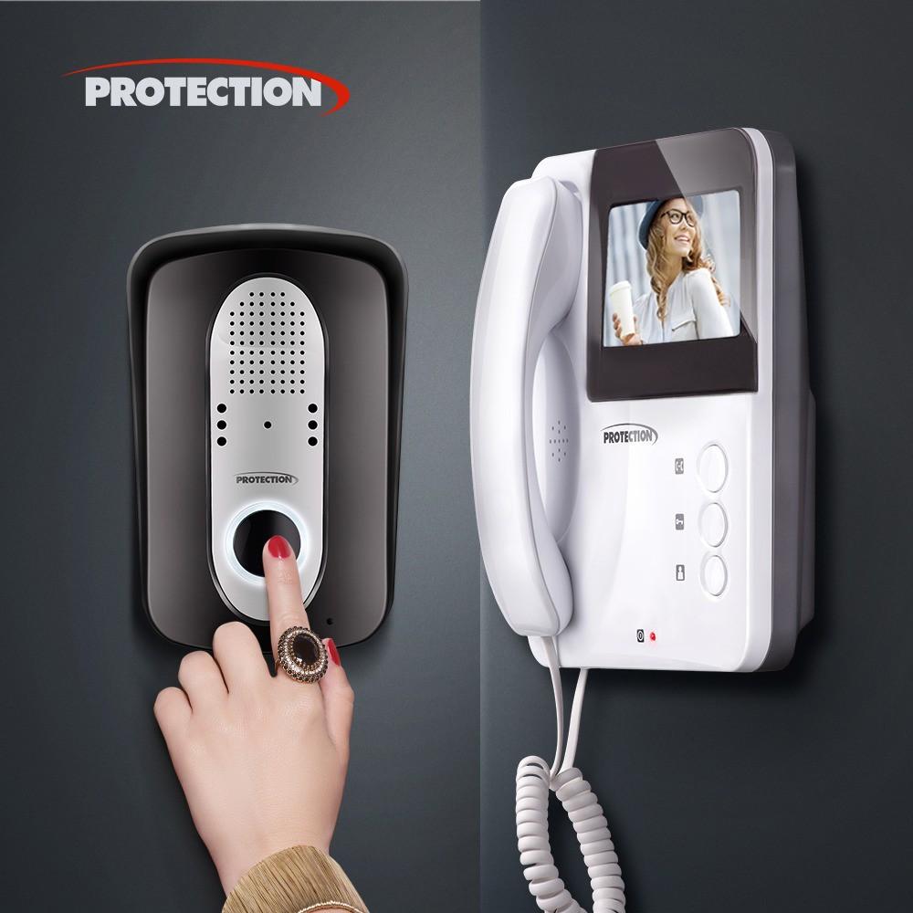 """Vídeo Porteiro Protection Colorido PT-3000 Tela 4"""" Visão Noturna"""