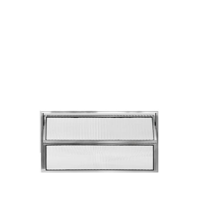 Vitrô Basculante Alumínio Brilhante Lux