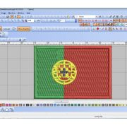 Bordado Bandeira Portugal para gola 3x2cm