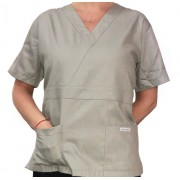 Camisa Pijama Cirurgico SCRUB MASCULINO  Camisa CINZA  Tecido 100% algodão