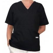 Camisa Pijama Cirurgico SCRUB MASCULINO  Camisa PRETA  Tecido 100% algodão