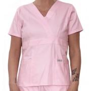 Camisa Scrub Anatomys Feminino ROSA CLARO  com ajuste para acinturar atrás  Botões Rosa 100% Algodão