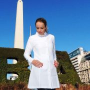 Jaleco Sissi Dress Feminino Acinturado ML OXFORD 100% Poliéster