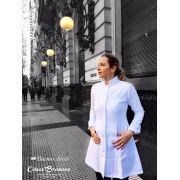 Jaleco Sissi Dress Feminino Acinturado ML MICROFIBRA  PREMIUM 100% Poliéster