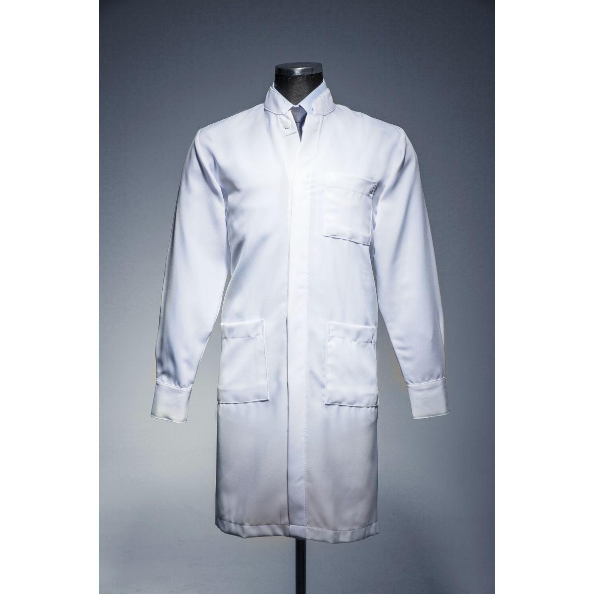 Jaleco Gola de Padre Punho Camisa Masculino Oxford 100%Poliéster