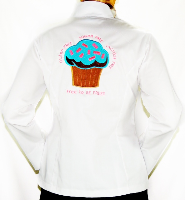 Dólmã Grace Feminina Acinturada Cupcake Blue Sky GLUTEN  Free BRANCA - Sarja 100% algodão Branco