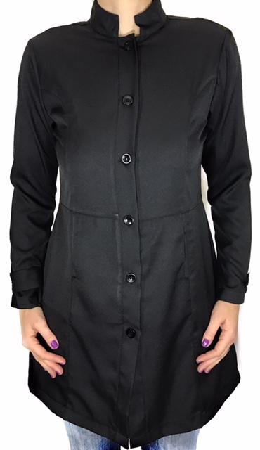 Jaleco Sissi  Dress Feminino Acinturado BLACK  MICROFIBRA