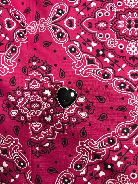 Dólmã Cecília Feminino Acinturado BANDANA com botões Black Heart Tricoline 100% algodão