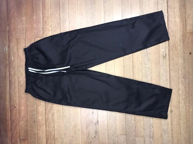 Calça Confort UNISEX PRETA com dois bolsos faca na frente e cordão AZUL Tecido Sarja 100% Algodão