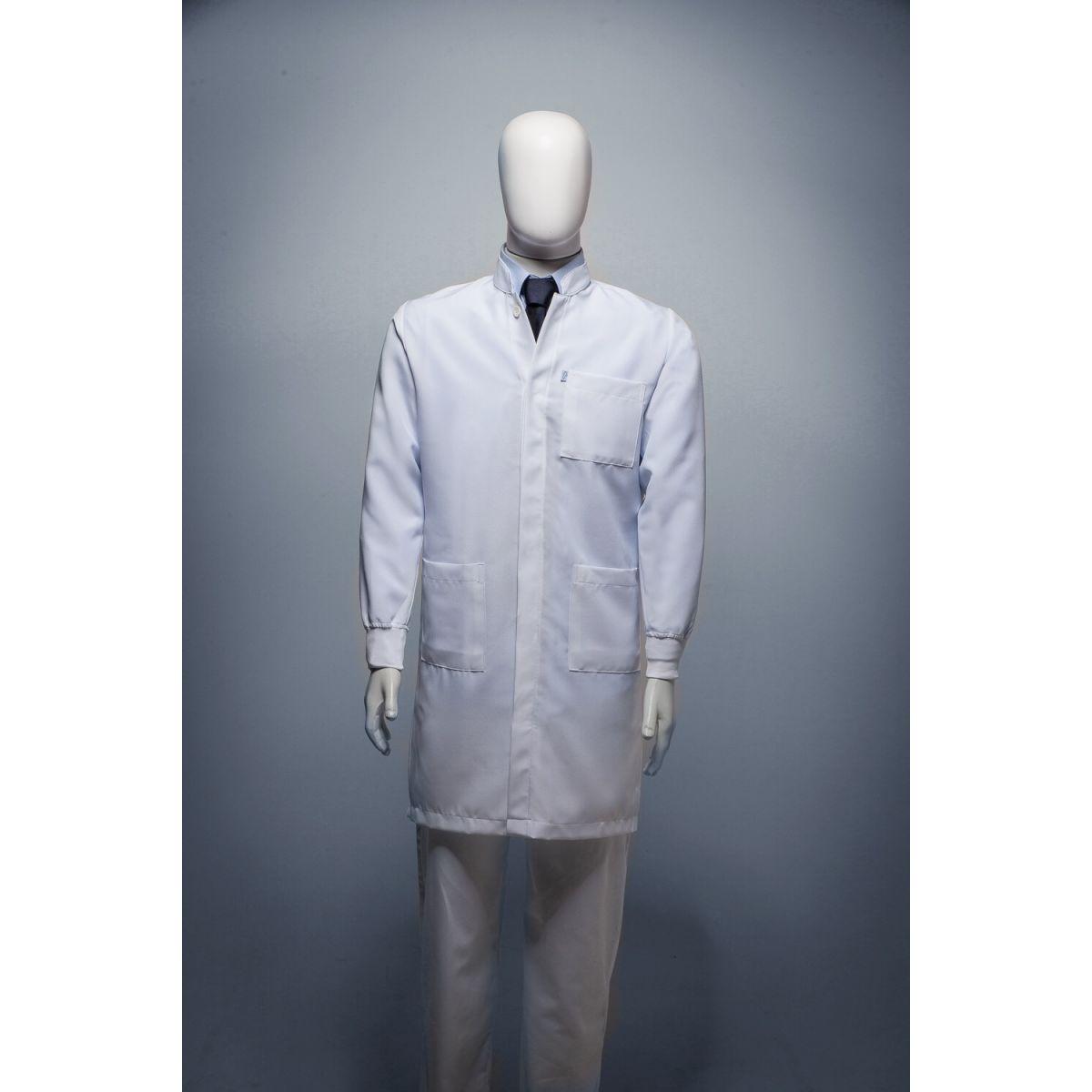 Jaleco Gola de Padre (punho de camisa) Microfibra Elegant
