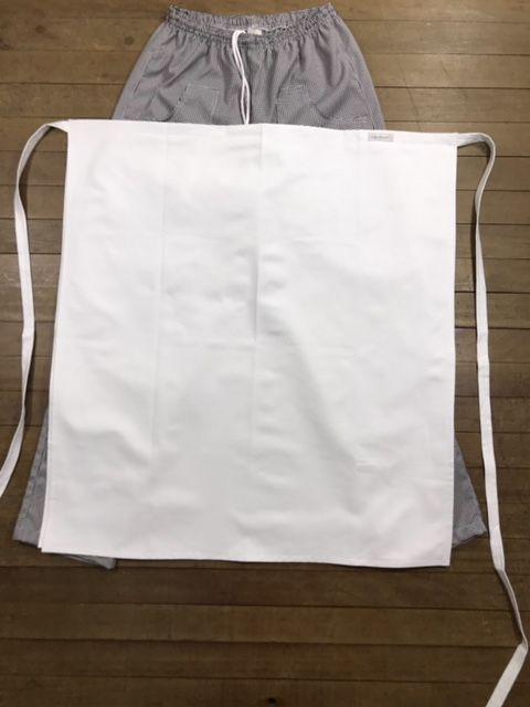 Avental 04 frentes Branco 100% Algodão
