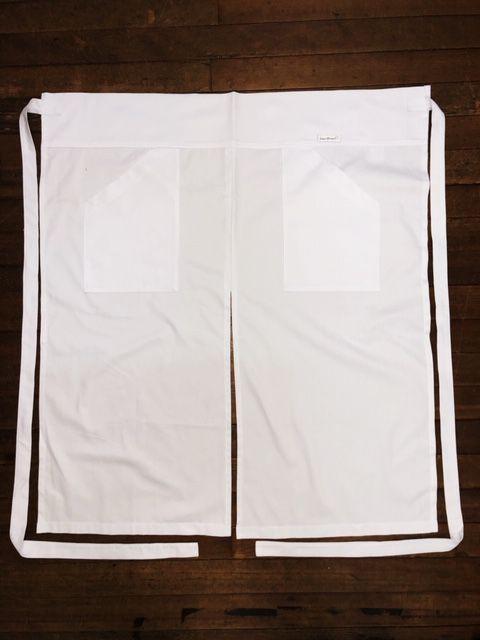 Avental Branco Abertura Frontal 2 Bolsos 100% Algodão