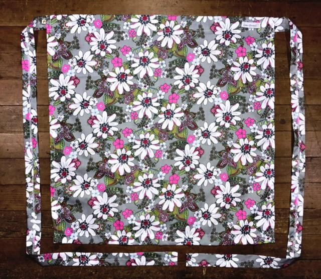 Avental FLOWER CINZA  100% Algodão