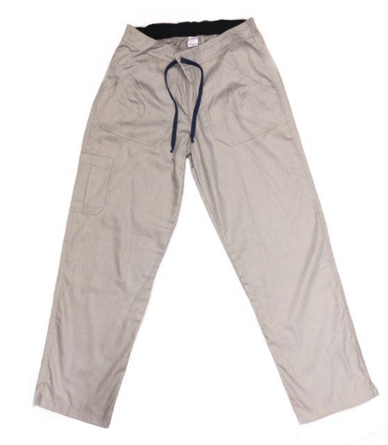 Calça Anatomys UNISEX CINZA com dois bolsos na frente e dois atrás e cordão PRETO Tecido ALGODÃO 100%