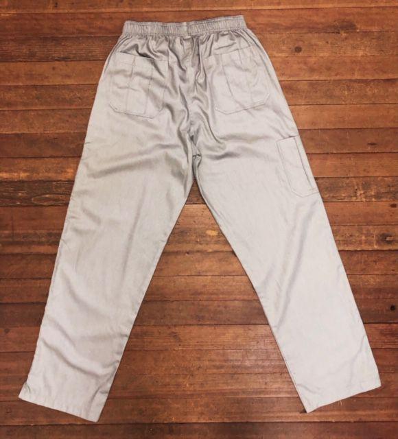 Calça Anatomys UNISEX CINZA com dois bolsos na frente e dois atrás e cordão VERDE Tecido ALGODÃO 100%